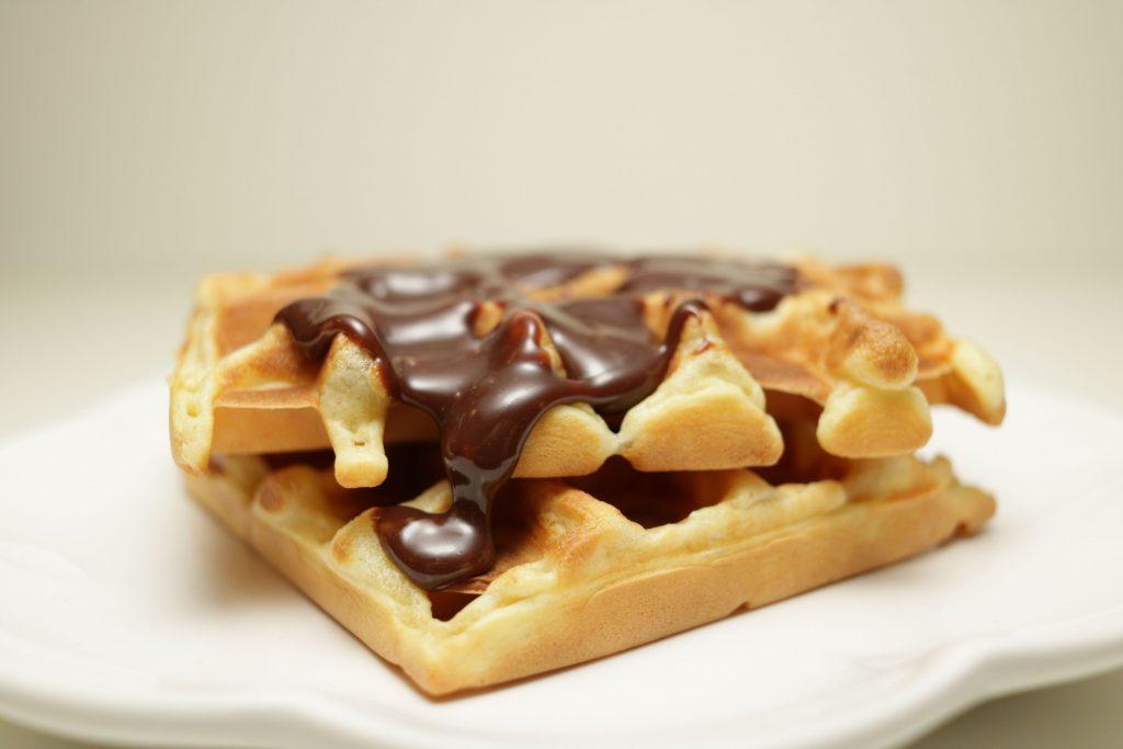 Recette gaufre au chocolat à tartiner - Noix de Choco