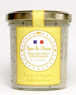 Pâte à tartiner au chocolat blanc citron pavot