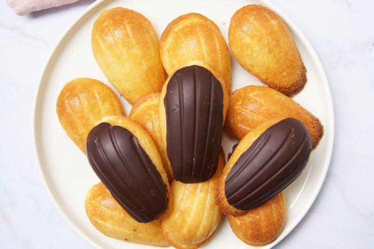 Recette de madeleines enrobées au chocolat