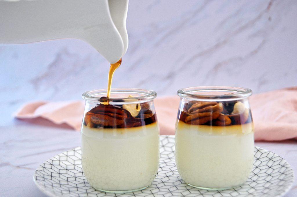 Crème dessert à la fleur d'oranger - Recette par Noix de Choco
