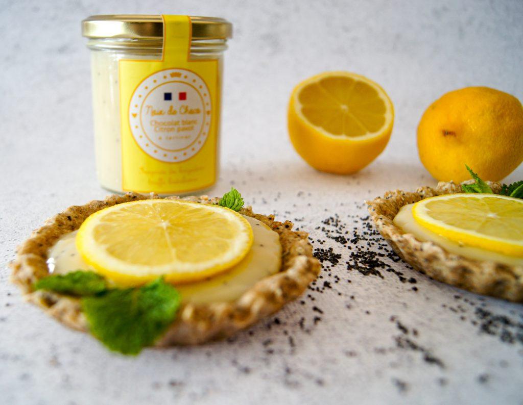 Tartelettes à la pâte à tartiner citron pavot - Recette Noix de Choco