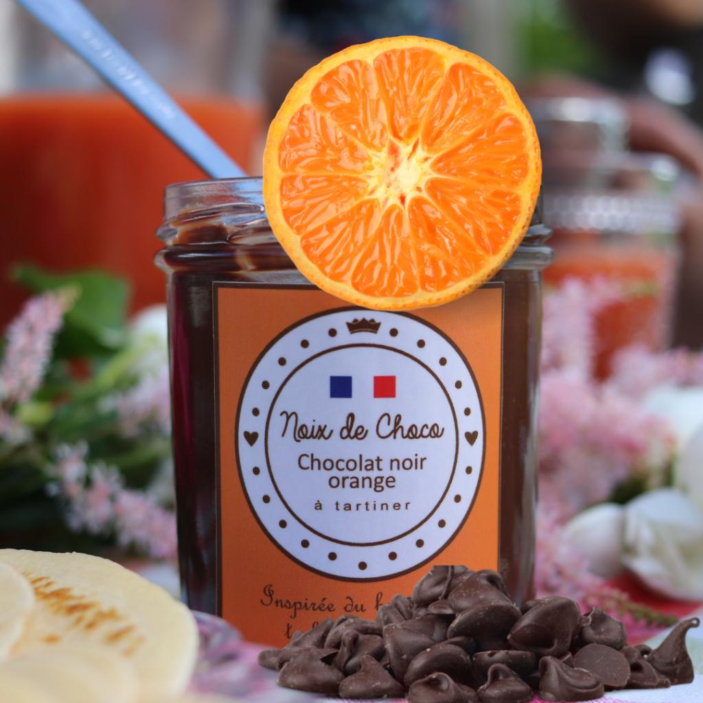 Pâte à tartiner chocolat noir orange - Noix de Choco