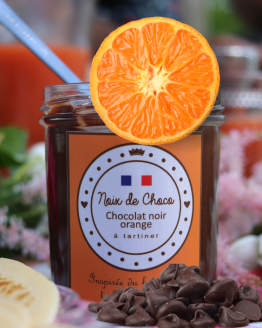 Pâte à tartiner au chocolat noir orange