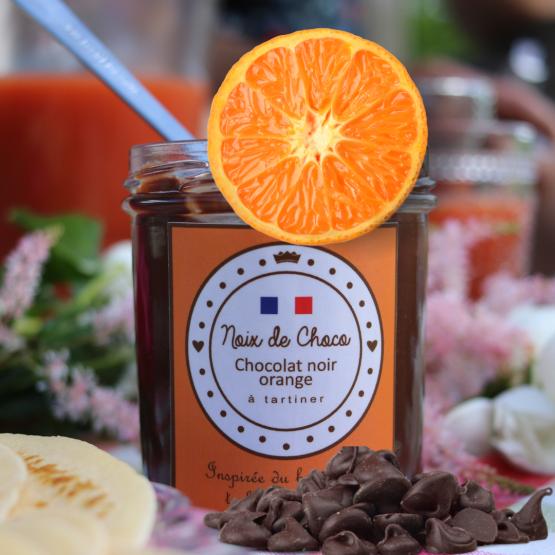 Pâte à tartiner au chocolat noir orange