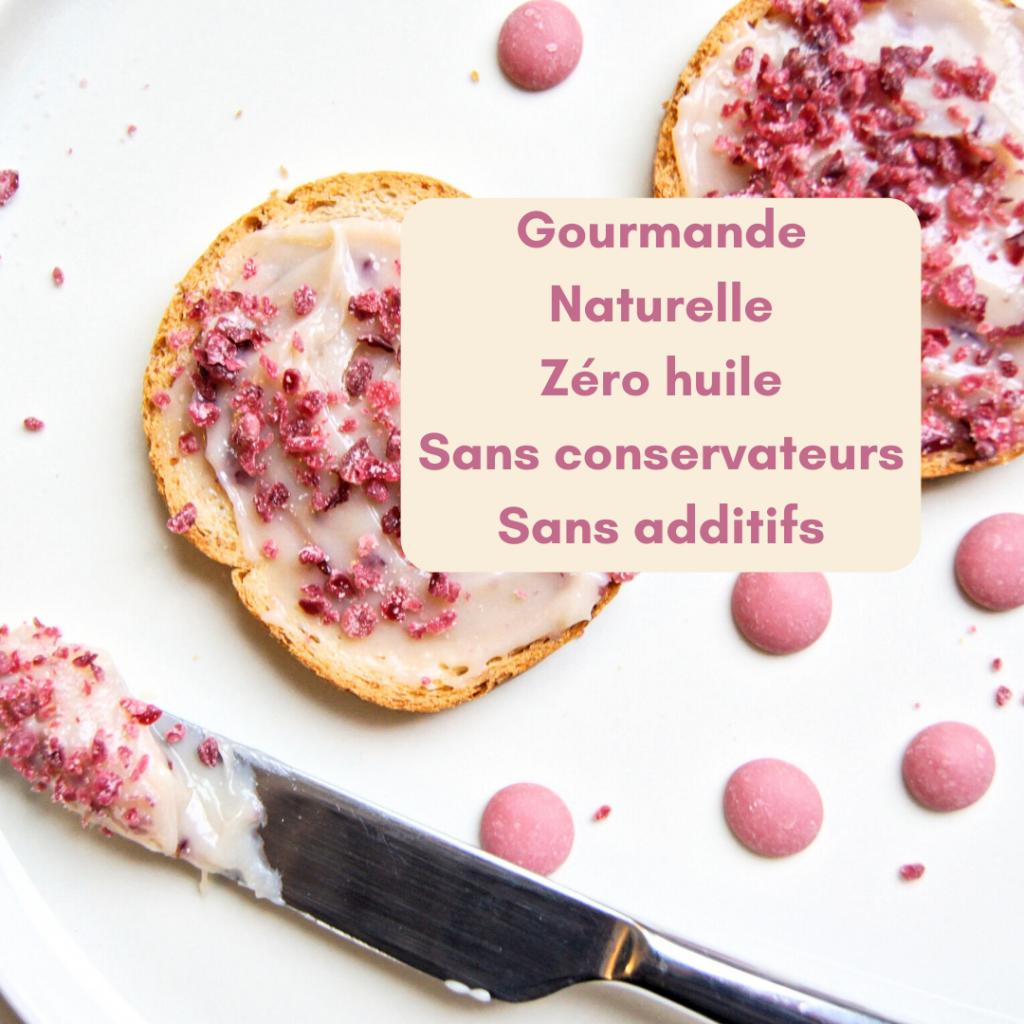 Chocolat rose Ruby à tartiner sur du pain, des gaufres, des crêpes, des pancakes ou à déguster à la petite cuillère.