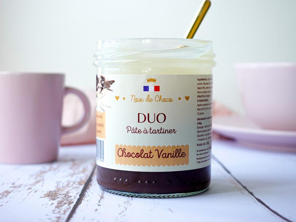 Pâte à tartiner DUO, Chocolat Vanille